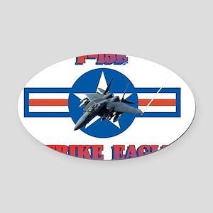 F-15E Strike Eagle-ver3-a-black Oval Car Magnet