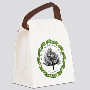 cut-clouds-white Canvas Lunch Bag