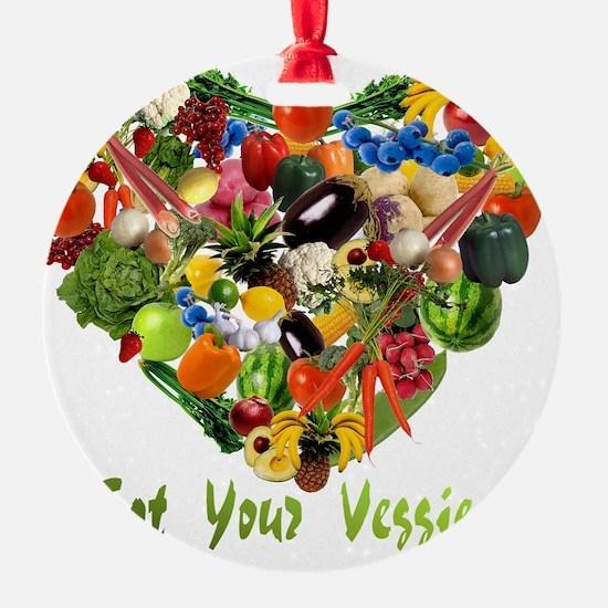 eat-your-veggies-white Ornament