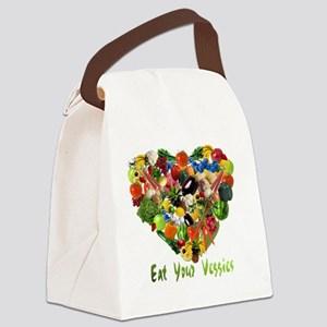eat-your-veggies-white Canvas Lunch Bag