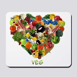 veg-white Mousepad