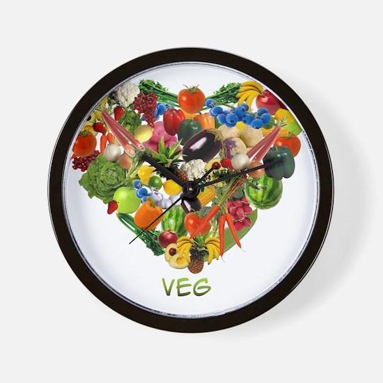 veg-white Wall Clock
