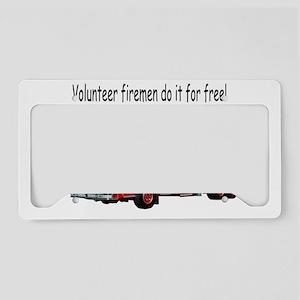 vol-fireman-free License Plate Holder