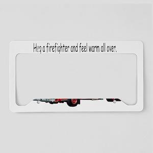 fireman-hug License Plate Holder