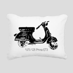 vespa-125-prima-black Rectangular Canvas Pillow