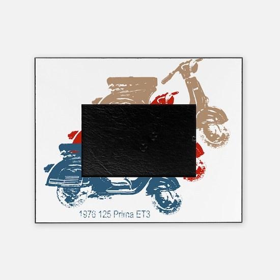 3-vespa-125-prima-blue-red-tan Picture Frame