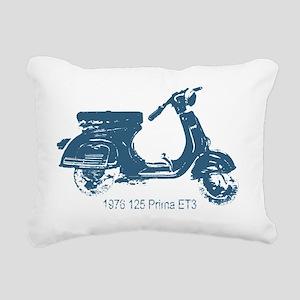 3-vespa-125-prima-blue Rectangular Canvas Pillow