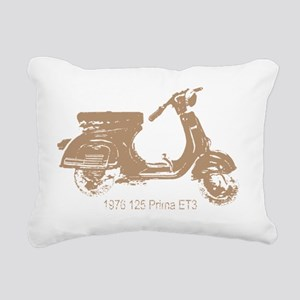 3-vespa-125-prima-tan Rectangular Canvas Pillow