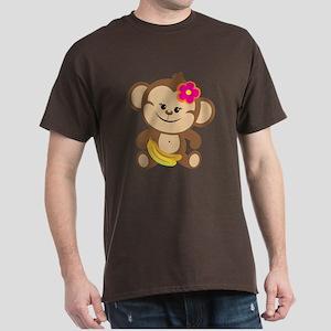 Girl Monkey Dark T-Shirt