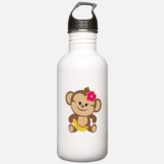 Girl Monkey Water Bottle