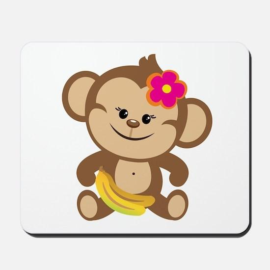 Girl Monkey Mousepad