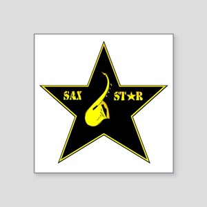 "sax-star Square Sticker 3"" x 3"""