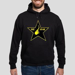 sax-star Hoodie (dark)