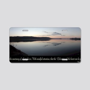 silent-places-buddha Aluminum License Plate