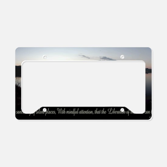 silent-places-buddha License Plate Holder