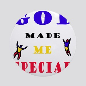 god-made-me2-black Round Ornament
