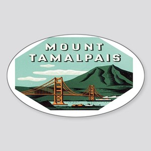 mount-tamalpais-161 Sticker (Oval)