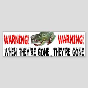 FROGS WARNING Bumper Sticker