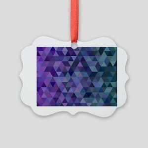 Purple to Green Triangles Picture Ornament