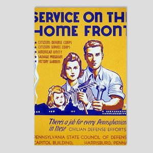 3b49007u-homefront Postcards (Package of 8)