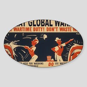 3f05375u-wastewater2 Sticker (Oval)