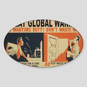 3f05376u-wastewater3 Sticker (Oval)