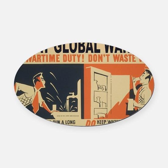 3f05376u-wastewater3 Oval Car Magnet