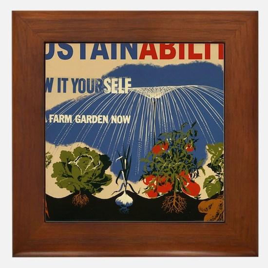 3f05737u-sustainability Framed Tile