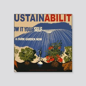 "3f05737u-sustainability Square Sticker 3"" x 3"""