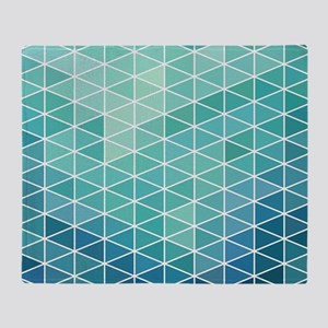 Modern Geometric Triangle Beach Glas Throw Blanket