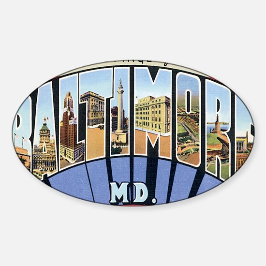baltimore Sticker (Oval)