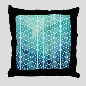 Modern Geometric Triangle Beach Glass Throw Pillow