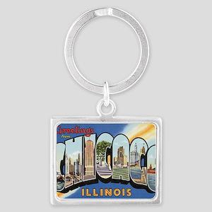 chicago Landscape Keychain