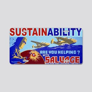 3b49079u-salvage Aluminum License Plate