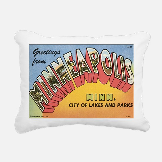 minneapolis Rectangular Canvas Pillow