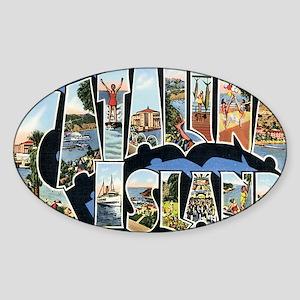 catalina-island Sticker (Oval)