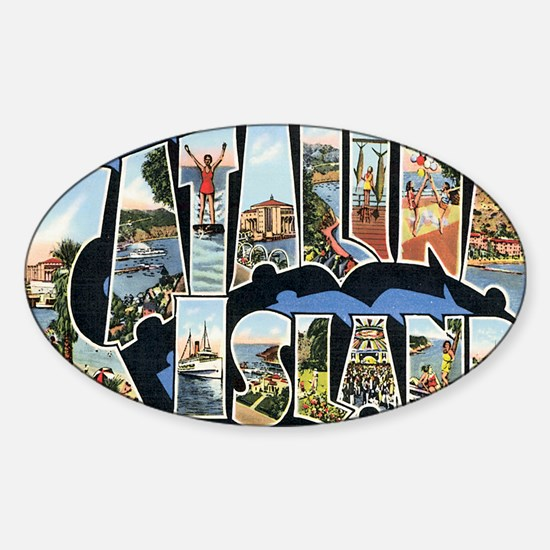 catalina-island Sticker (Oval)