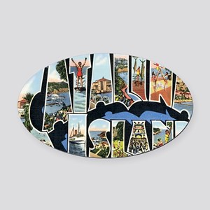 catalina-island Oval Car Magnet