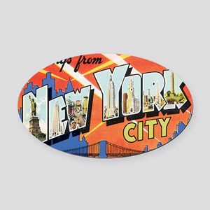 new-york Oval Car Magnet