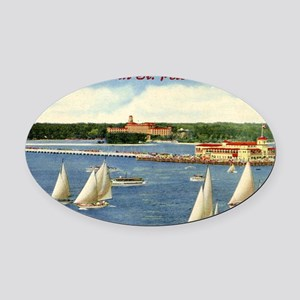 st-peters-5 Oval Car Magnet