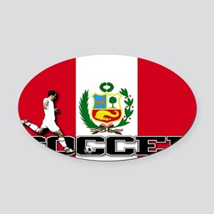 Peru-s Oval Car Magnet