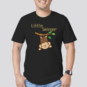 Boy Monkey Little Swinger Men's Fitted T-Shirt (da