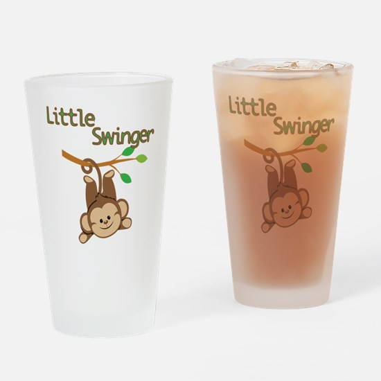 Boy Monkey Little Swinger Drinking Glass