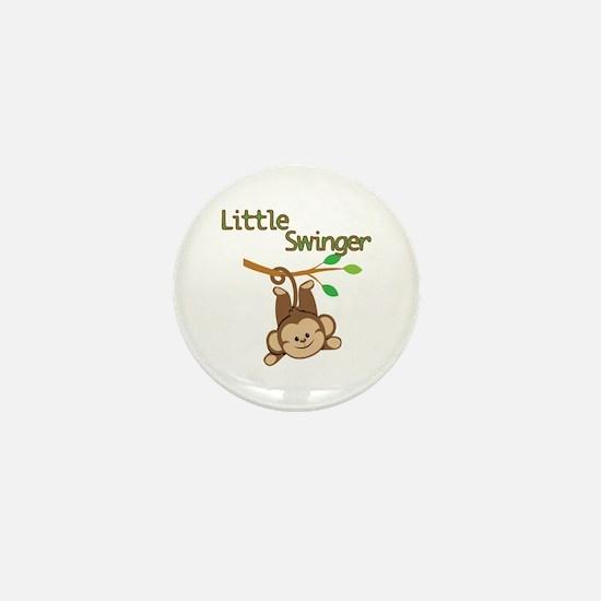 Boy Monkey Little Swinger Mini Button