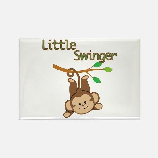 Boy Monkey Little Swinger Rectangle Magnet