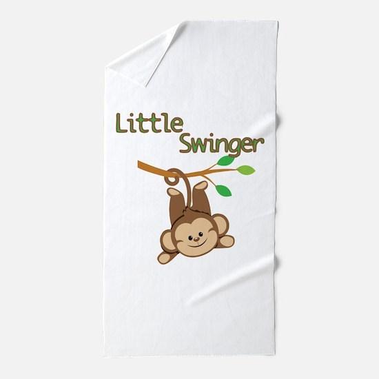 Boy Monkey Little Swinger Beach Towel
