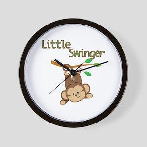 Boy Monkey Little Swinger Wall Clock