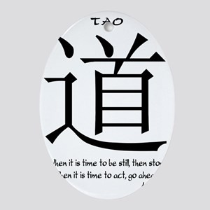 tao-time-be-still-white-1 Oval Ornament