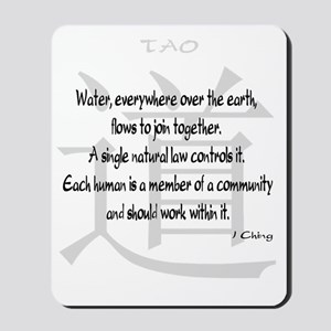 tao-water-iching-white Mousepad