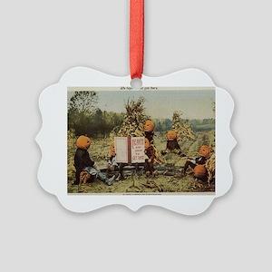 pumpkin-heads Picture Ornament